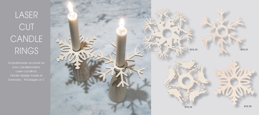 Laser Cut Candlerings Page