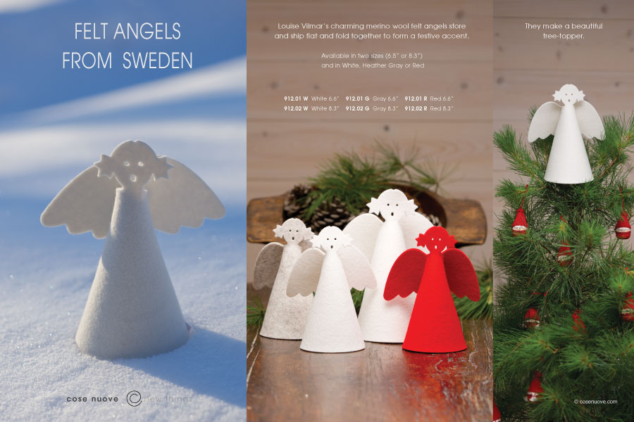 Felt Angels from Sweden